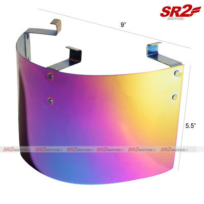 - Universal Stainless Air Intake Filter Neon Chrome Heat Shield Cover