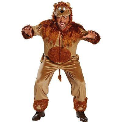 Rub - Herren Kostüm Löwe Overall Löwenkostüm Karneval Fasching