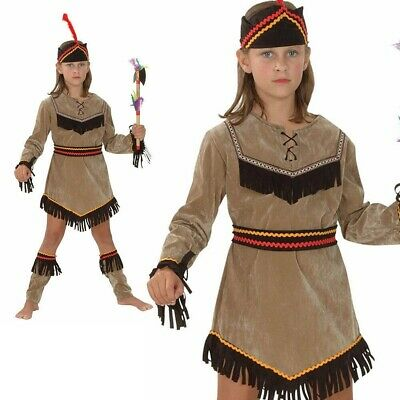 American Indian Mädchen Deluxe Kinder Indisch Kinder Welt Buch Tag - Indische Kostüm Kinder