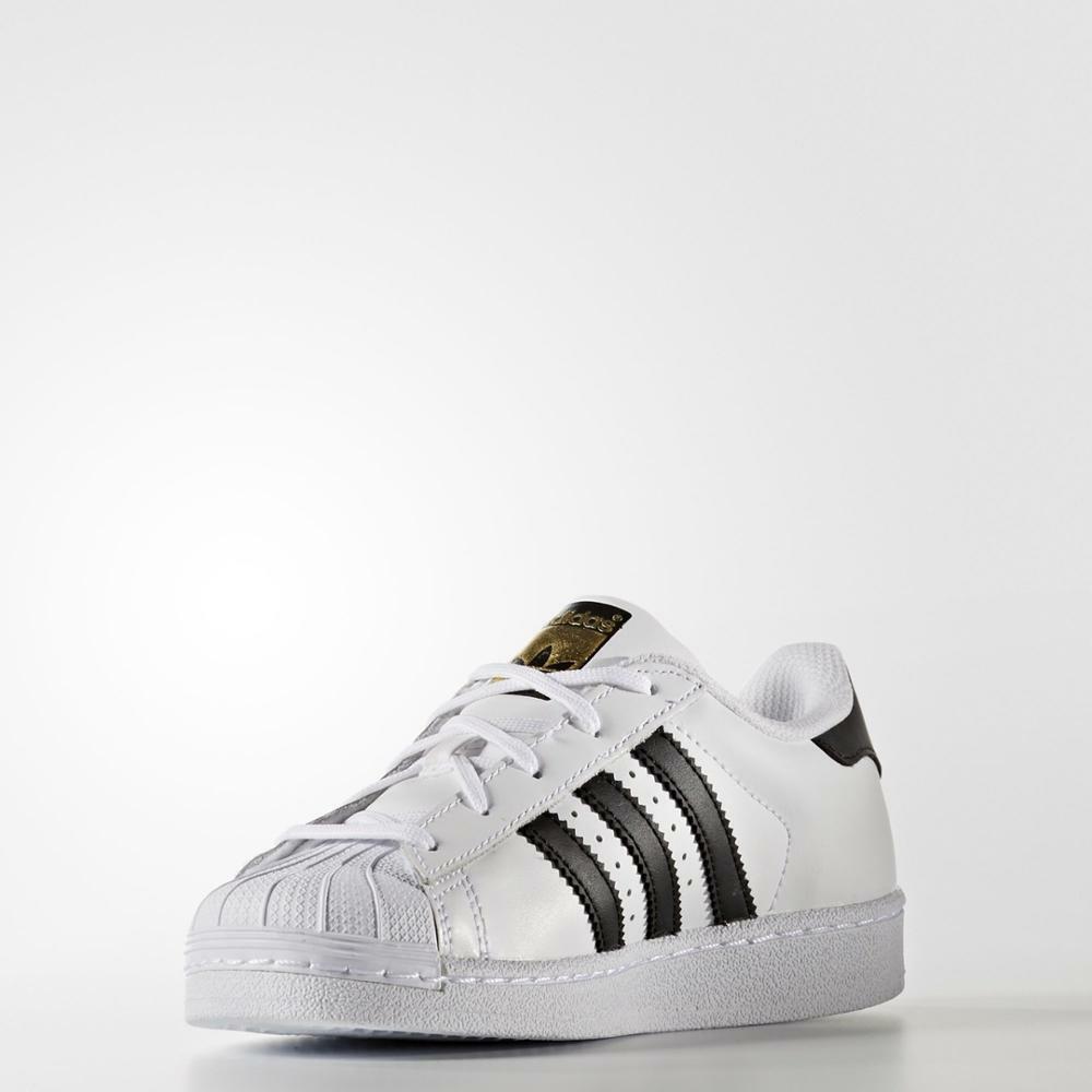 Adidas Superstar Foundation Sneaker Little Kids  BA8378-White/Black