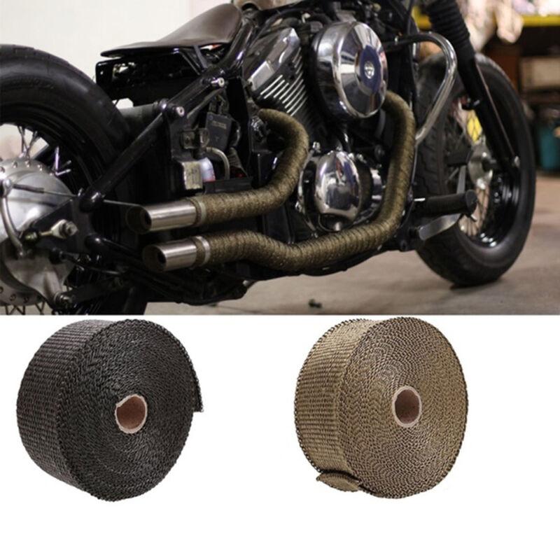 5m High Heat Insulation Fiberglass Wrap Exhaust Header Pipe Tape Cloth Red