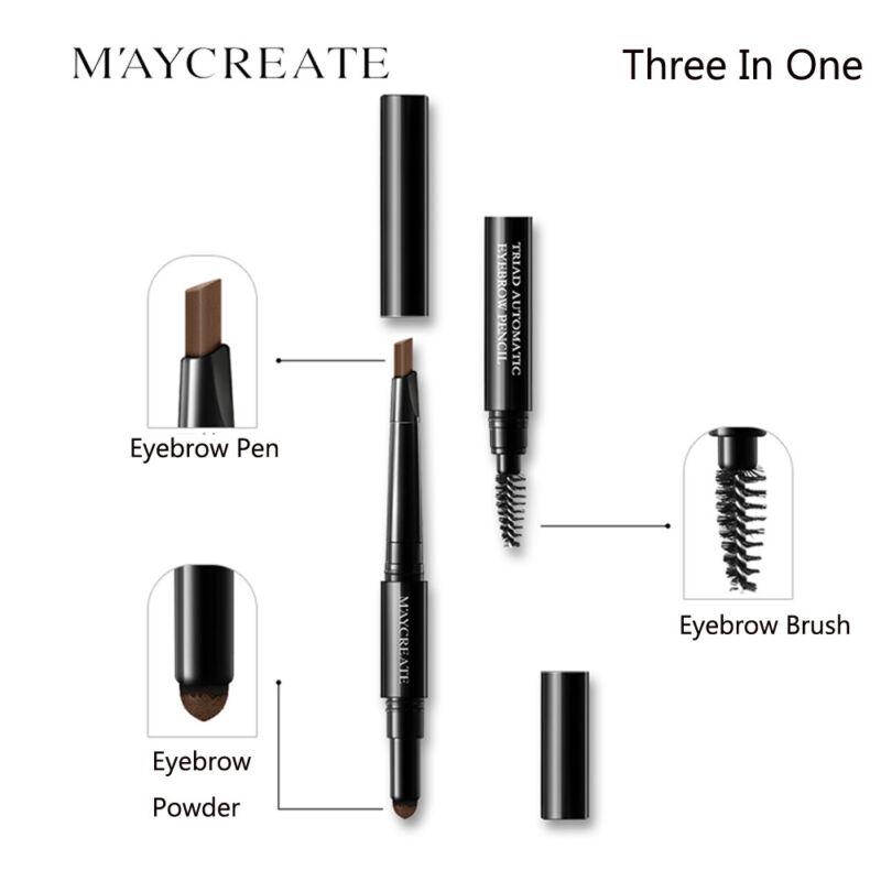 3in1 Waterproof Eye Brow Liquid Eyebrow Pen Pencil Brush ...