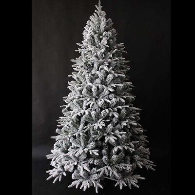 Albero di Natale 210 cm Carpino Bianco innevato neve artificiale riproduzione