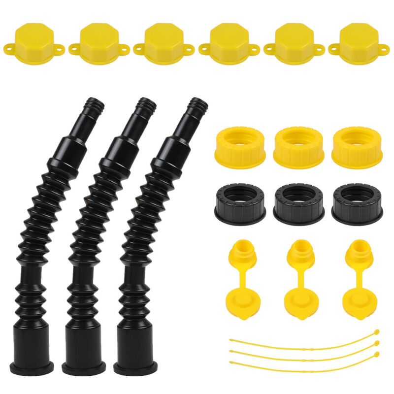3 Set Flexible Gas Can Spouts Upgrade Plastic Replacement Fuel Tank Nozzle Ultra