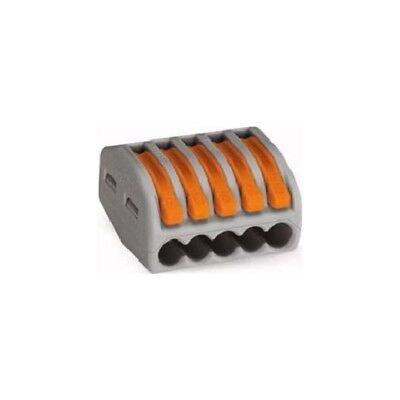 Wago 222-415 5-Leiter-Klemme 0,08-4mm² grau mit Betätigungshebeln 40 Stück