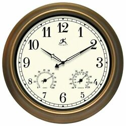 18inch Waterproof Plastic Wall Clock Radio Movement aged Copper Frame Clock (21D