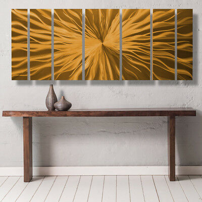 Modern Contemporary Abstract Metal Wall Art Sculpture Painting Home Decor Copper