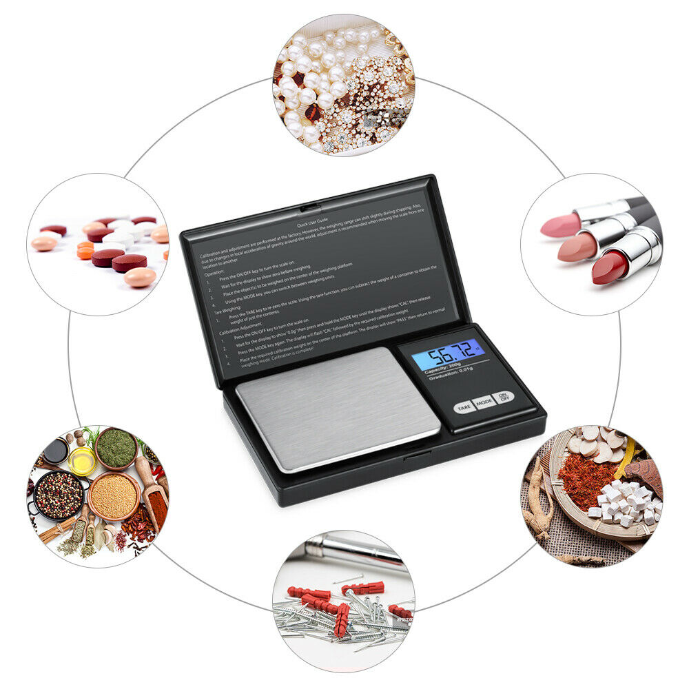 0.01g/&200g Electronic Digital LCD Balance Kitchen Jewelry Gold Weight Food Scale