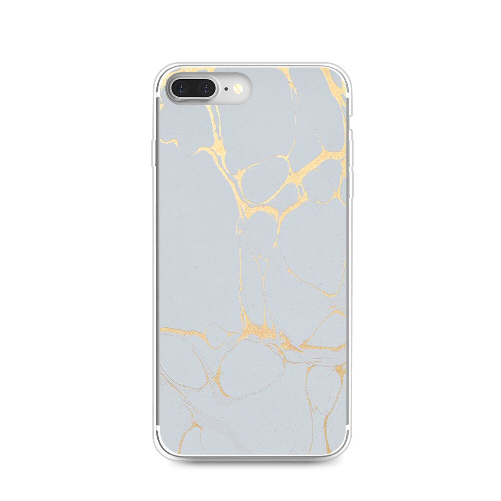 Marble Rubber Ultra-Thin Clear Silicone Soft TPU Cover Case For Samsung S8 S7 S6
