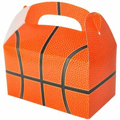 12 BASKETBALL PARTY TREAT BOXES FAVORS GOODY BAG PRIZE GIFT BASKET   - Goodie Boxes