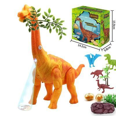 EGG LAYING JURASSIC WORLD WALKING BRACHIOSAURUS DINOSAUR T-REX TOY LIGHTS BOX - Dino Egg