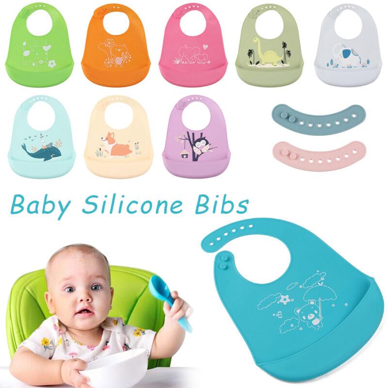 WO/_ Baby Feeding Rice Bib Silicone Children Waterproof Saliva Towel for Kids Sal
