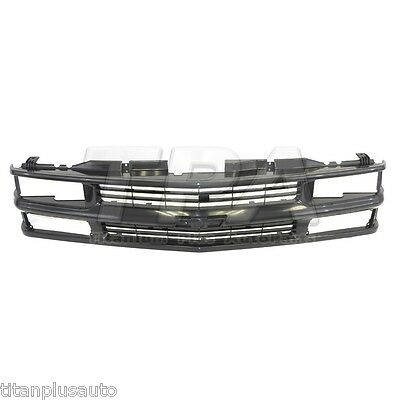 BLACK GRILLE Fit For Chevy Tahoe,Blazer,3500,2500,1500 GM1200239
