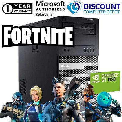 Dell Fortnite Nvidia 1030 Desktop Gaming Computer 16GB i5 SSD+HDD Windows 10 PC