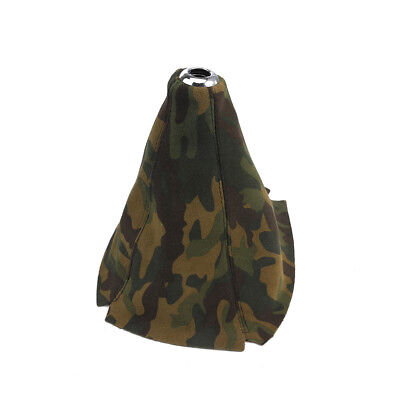 Disguise Boot Cover (Suede Leather Manual Gear Stick Shift Knob Cover Boot Gaiter Cover Camouflage )