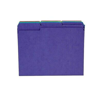 Staples Heavyweight Colored File Folders; Letter 3 Tab 50/Box 810351