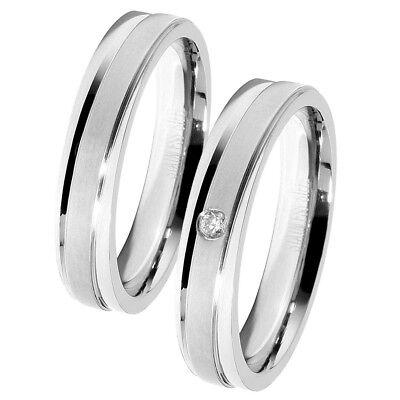 Akzent Damen & Herren Ring Partnerringe Verlobung Freundschaft - Silberne Modeschmuck Ringe