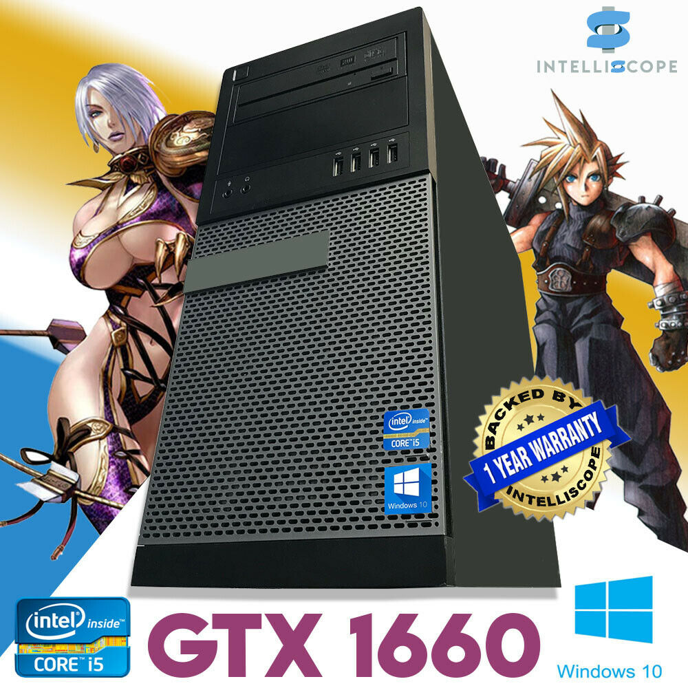 Computer Games - Fast Gaming PC Computer Intel Quad Core i5 16GB Windows 10 6GB GTX 1660 SSD WiFi