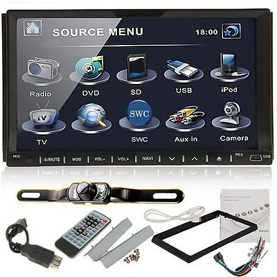 "7""Touchscreen Double 2Din In dash Car Stereo Radio Mp3 CD DVD Player+Camera on Rummage"