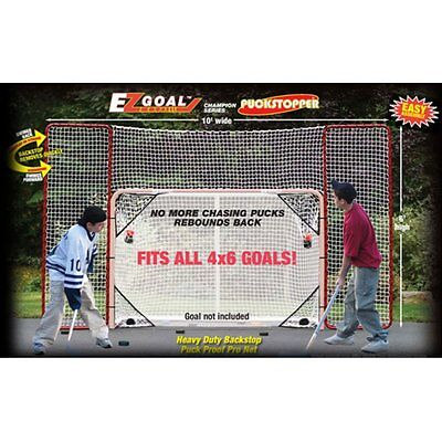 Hockey Practice Backstop Kit Targets Red/White Outdoor Netting Steel Frame