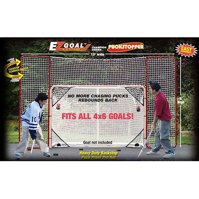 Hockey Practice Backstop Kit Targets Red/White Outdoor Netting Steel Frame