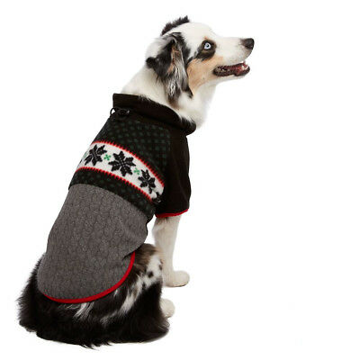 Martha Stewart Pets® Holiday FAIRISLE FLEECE Dog Sweater Christmas Soft Warm ()
