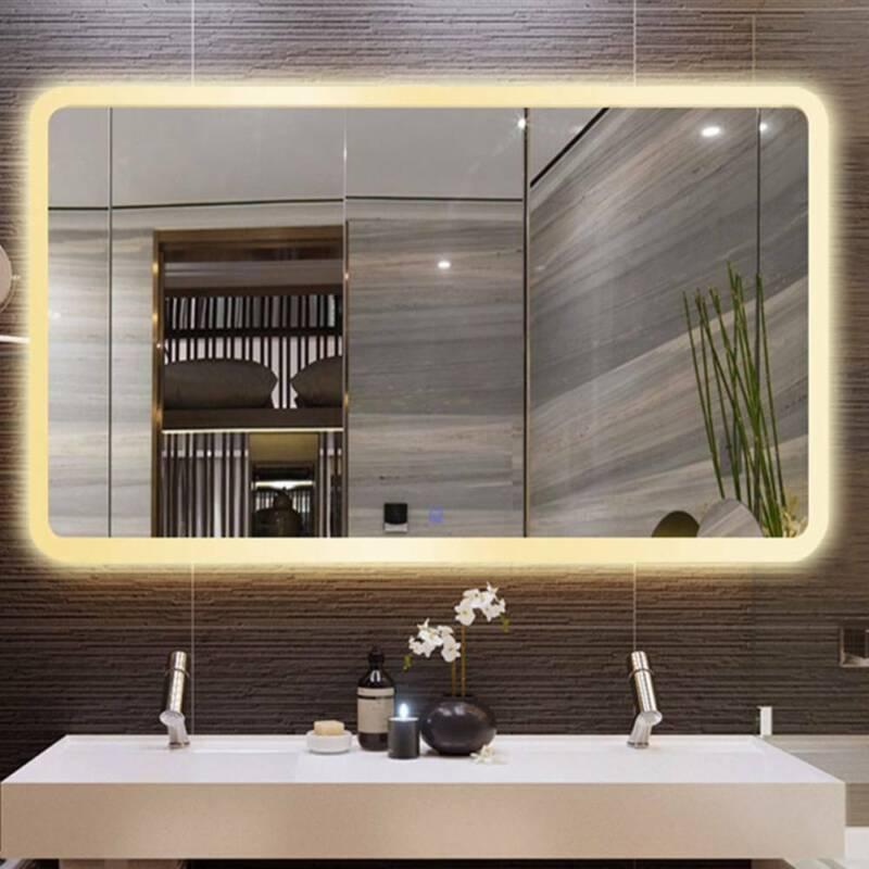 LED Badspiegel Badezimmer Spiegel Wandspiegel mit Beleuchtung Touch 50x70cm