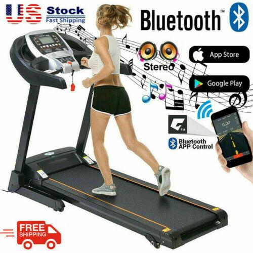 3.25HP~2.25HP Folding Electric Treadmill Running Machine w/ Bluetooth WIFI 2021-