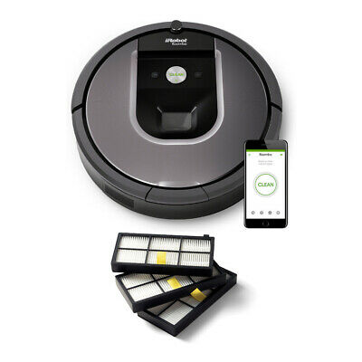 iRobot Roomba 960 Robot Vacuum with WiFi w/ Roomba Filters (3-Pack)