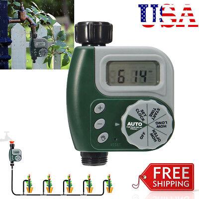 - Garden Automatic Water Tap Timer Drip Digital Irrigation System Sprinkler HM
