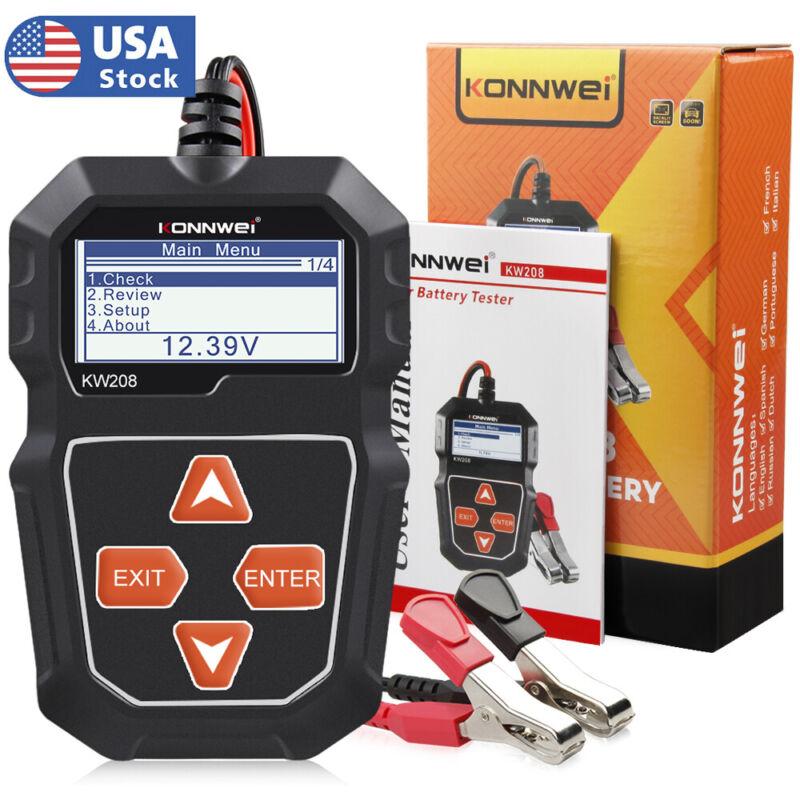 Automotive 12V Car Battery Tester 100 to 2000CCA Cranking Charging Test Analyzer