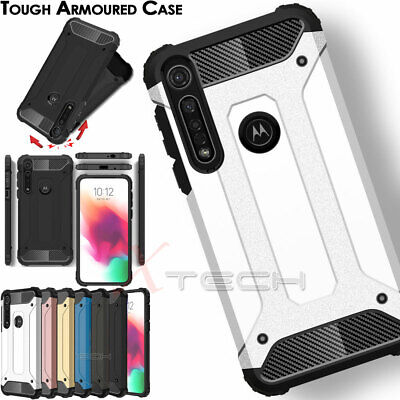 for Motorola Moto G8 Plus, Play, Power, TOUGH ARMOUR Shockproof Hard Case Cover