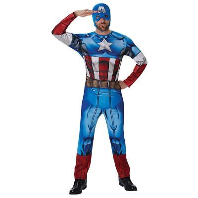 Rub - Marvel Classic Herren Kostüm Captain America Avengers ()