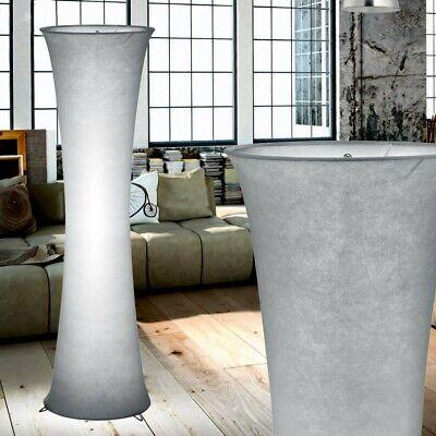Lámpara de Pie Salón Stofflampenschirm Gris Oficina Soporte Iluminación Base E27