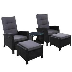 Outdoor Patio Furniture Recliner X5O-ODF-RECLINER-CHOTTB-5BK