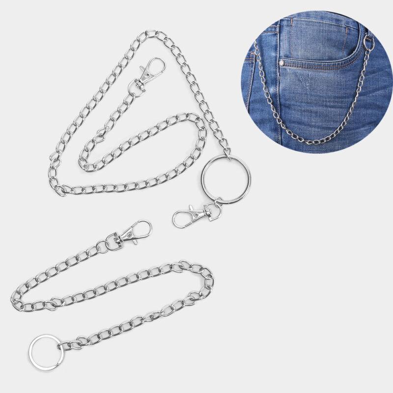 Punk  Big Ring Wallet Chain Belt Hip Hop Jewelry Key Chains