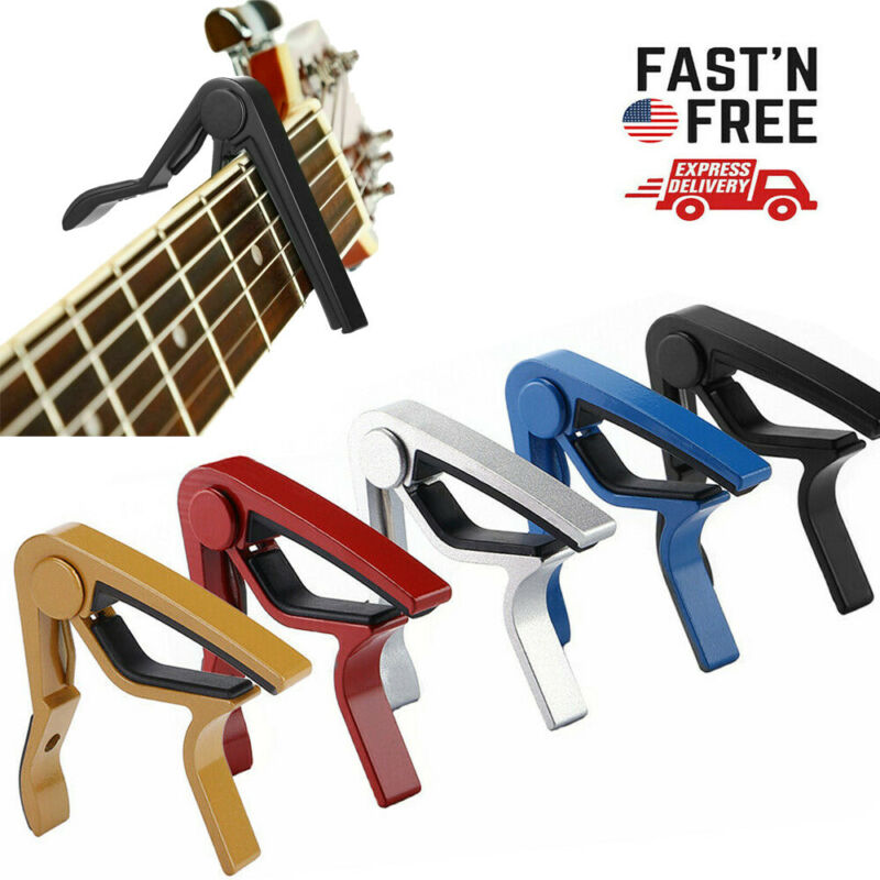 Guitar Capo Trigger Key Quick Changing Clamp Mandolin Acoustic Electric
