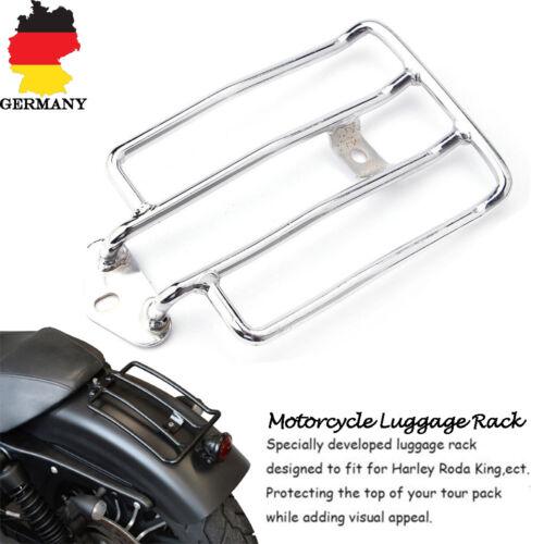 Motorrad Bike Gepäckträger Regal Rack Satteltaschen Silber Für Harley XL883 1200