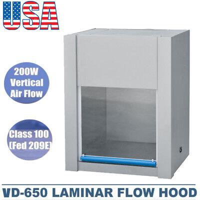 Us Ship Vd-650 Vertical Laminar Flow Hood Clean Bench Workstation Singlesided