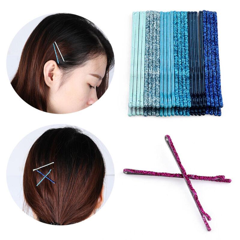Candy Colors Wavy Hair Clips Glitter Bobby Pins Girls Headwear Barrettes