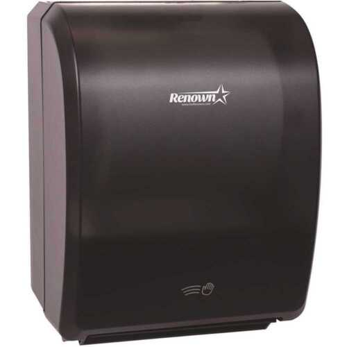 """Renown REN05176-WB Electronic Hand Towel Roll Dispenser 7.5"""" automatic restroom"""