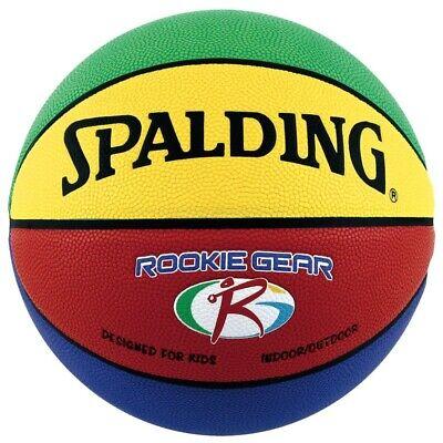 SPALDING Baloncesto Rookie Engranaje Verde Amarillo Rojo para Niños 74281Z Con