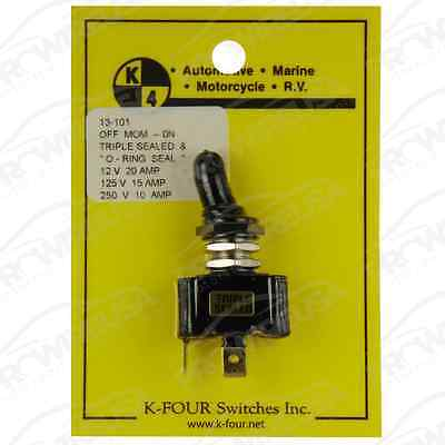 13-101 Triple Sealed Off-on Momentary Toggle Switch 20 Amp Race Car Nascar