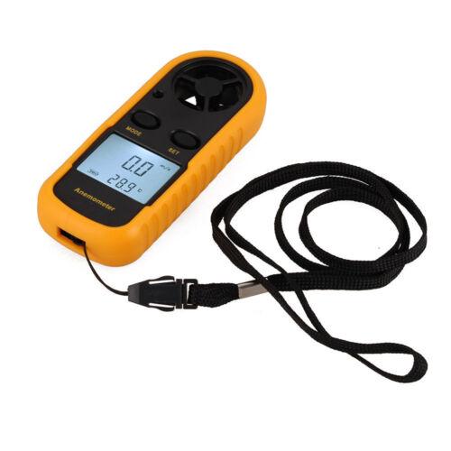LCD Air Wind Speed Scale Gauge Meter Digital Anemometer Thermometer Handheld