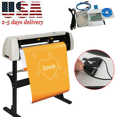 33 Vinyl Cutter Sign Cutting Plotter Machine With Contour Cut Function Usa 2-5d