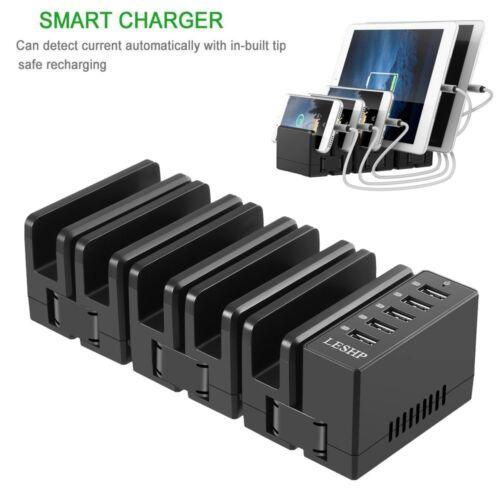 5 Port USB Hub Aufladegerät Ladestation & Multi Gerät Handys Tablets Ständer