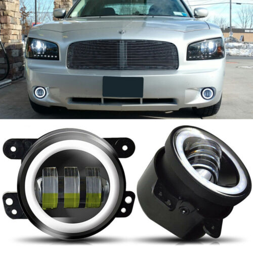 """Pair 4/"""" LED Lights Driving Fog Lamps FIT 2011 2012 2013 2014 Dodge Charger"""