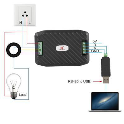 Ac100a Voltage Current Energy Hz Power Factor Rs485 Modbus Module W Ct Usb Xi