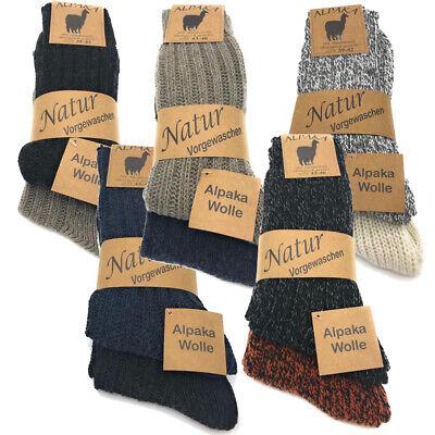 2 Alpaka Socken Winter Wollsocken Herren Damen Schafswolle warme Strümpfe