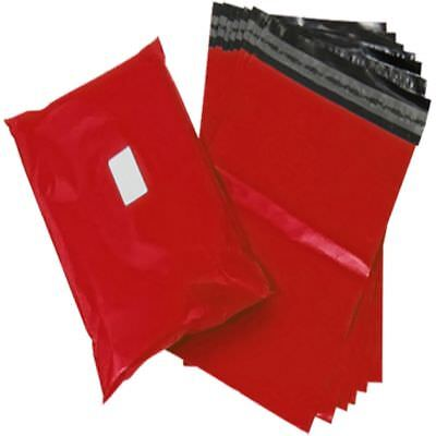 1000 Red Plastic Mailing Bags Size 14x20